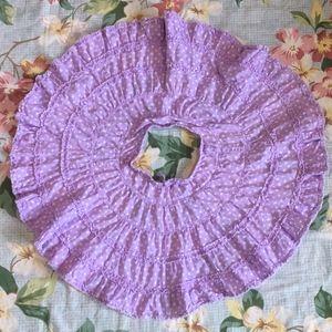Mini Boden Lavender & White Dot Circle Skirt